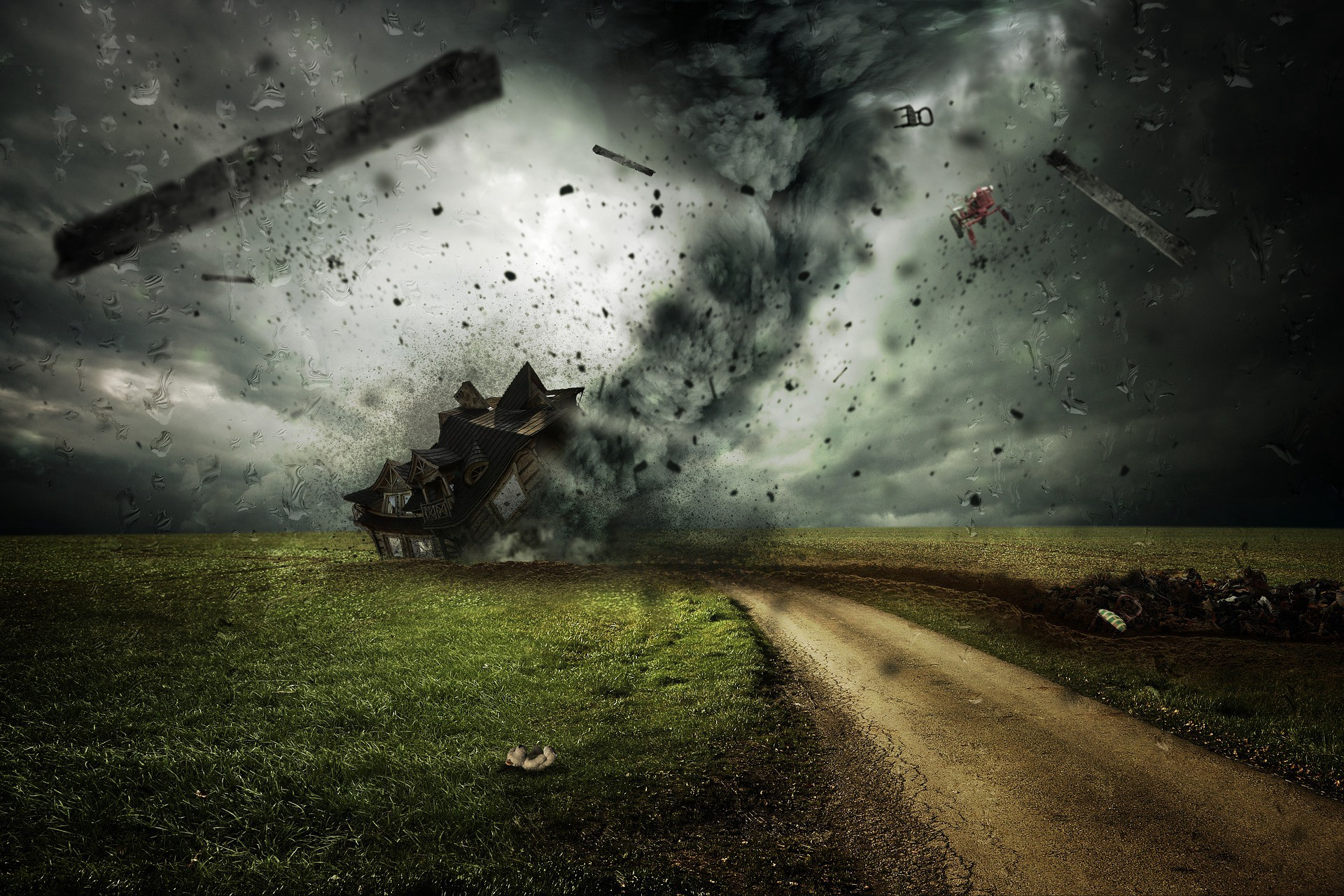 Tornado depicting the impact of addiction on relationships