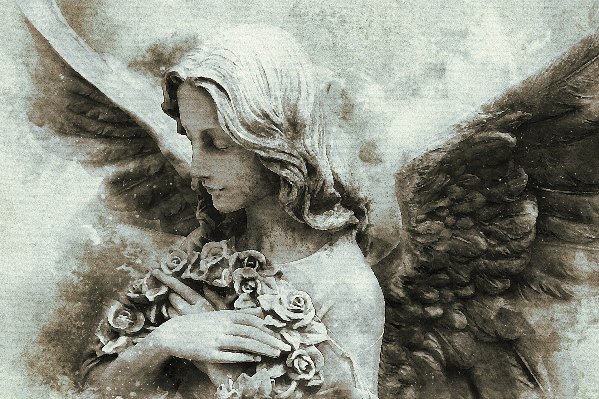 Healing from trauma depicted by image of angel